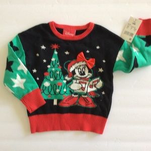 DISNEY MICKEY MOUSE CHRISTMAS SWEATER NWT 18 MO